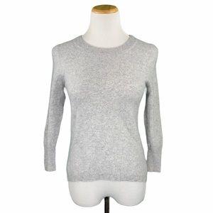 J. Crew 100% Cashmere Gray Long Sleeve Sweater